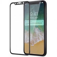 Folie sticla iPhone X 5D Full Face Neagra