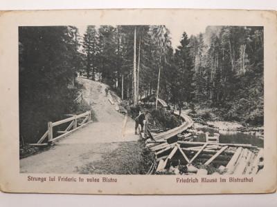STRUNGA LUI FRIDERIC IN VALEA BISTRA  (VALEA SEBESULUI)- JUD ALBA - INCEPUT 1900 foto