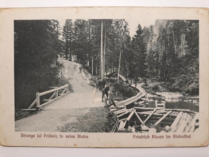 STRUNGA LUI FRIDERIC IN VALEA BISTRA  (VALEA SEBESULUI)- JUD ALBA - INCEPUT 1900
