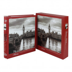 Album foto Old City London Clock, 200 fotografii 10x15 cm, slip-in, memo, cutie