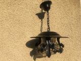 Candelabru,lustra,lampa rustica germana,din fier forjat