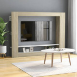 VidaXL Comodă TV, alb și stejar Sonoma, 152 x 22 x 113 cm, PAL