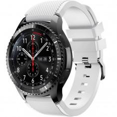 Curea ceas Smartwatch Samsung Gear S3, iUni 22 mm Silicon White