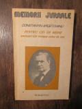 Pentru cei de mîine (vol. I partea I, vol. II partea IV)-C-tin Argetoianu(2vol.)