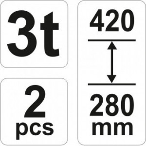 Set 2 suporti tip capra, 3 tone, Yato YT-17311