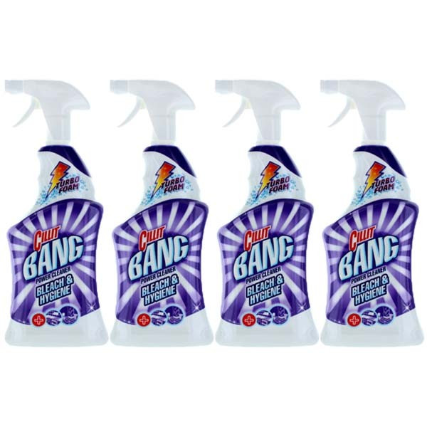 4 x Cillit bang dezinfectant, Pentru baie si bucatarie, 4 x 750ml