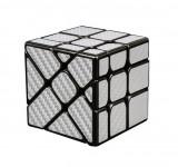 Cumpara ieftin Cub Rubik 3x3x3 Moyu Unequal Fisher fibra de carbon silver, 153CUB