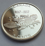 Monedă 5 cents 2017 Canada, Living Traditions - Beaver, unc, Canada 150, America de Nord