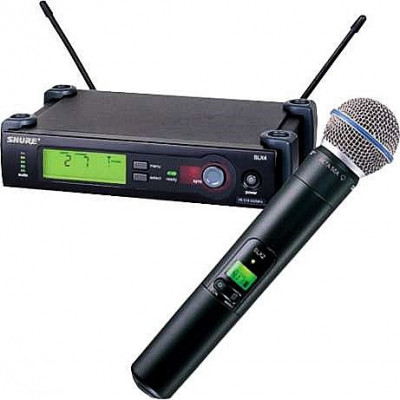 Microfon wireless Shure Beta 58A cu receiver SLX4 foto