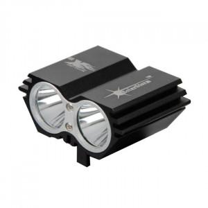 Lanterna LED, pentru bicicleta, 5000 lumeni, 2xT6, negru, YTGT-50002.14