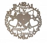 Cumpara ieftin Ceas personalizat pentru cei mai frumosi nasi, Lemn, 40 cm