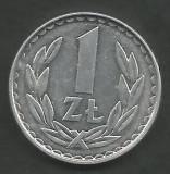 POLONIA 1 ZLOT ZLOTY 1983 [1] XF+ , livrare in cartonas, Europa, Aluminiu