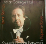 Lazar Berman-Live at Carnegie Hall*dublu lp.