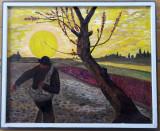 """Copie după """"Semănătorul"""" de V. Van Gogh – pictură pe pânză"""