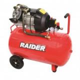 Cumpara ieftin Compresor cu 2 pistoane, Raider RD-AC03, 2200W, 100L