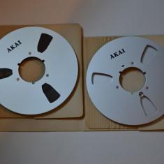 SET Banda magnetofon AKAI 26,5cm metal ,NAB -original Japan -raritati-ca noi
