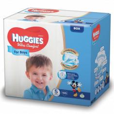 Scutece Huggies Ultra Confort BOX 5, Baieti, 12-22 kg, 105 buc