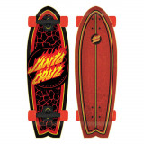 Cruiser Santa Cruz Flame Dot Shark Black/Red