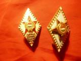 2 Insigne vechi Academia Tehnica de Aparare Ungaria , grade diferite ,4,5cm