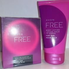 Set Avon Free: parfum 50ml + lotiune de corp 150ml