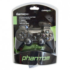 Gamepad Omega cu vibratii Black