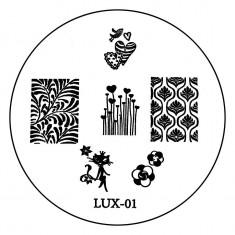Matrita Metalica Stampila Unghii LUX-01 - Nature