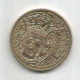 No(5) -moneda-50 bani- Mircea cel Batran, Cupru (arama)