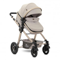 Carucior transformabil 3 in 1 Alexa Beige Triangles, Lorelli