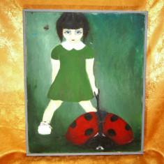Pictura ulei pe panza stil modernist realist, colectie, cadou, vintage