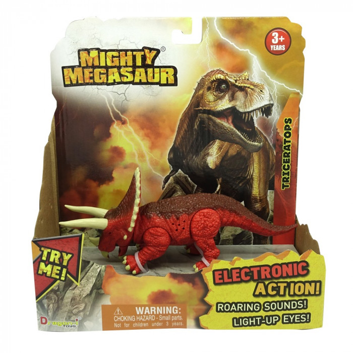 Mighty Megasaur Dinozaur cu lumini si sunete- Velociraptor - 16896-4
