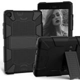 Husa Tableta TPU OEM Antisoc pentru Apple iPad Pro 11 (2018) / Apple iPad Pro 11 (2020), Cu Holder si suport creion, Neagra