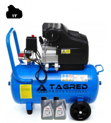 Compresor de Aer cu Ulei Tagred Mobil, 50L, 3.8 CP, 8 Bar, 206 L/min + Ulei foto