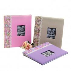 Album poze Surprise personalizabil, foto autoadezive, 60 pagini, imprimeu floral