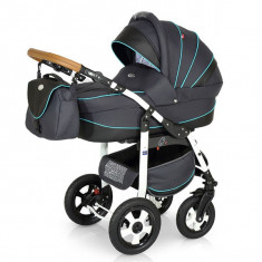 Krausman - Carucior 3 in 1 Ride Dark Grey-Turqoise
