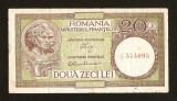 ROMANIA - 20 LEI 1947 1948 1949 1950 - LUCA / RUBICEC . FIL RPR ORIZONTAL