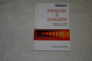 Introducere in management - Malcolm Peel - 1994