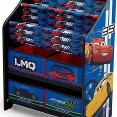Organizator carti si jucarii cu cadru din lemn Disney LMQ, Multicolor