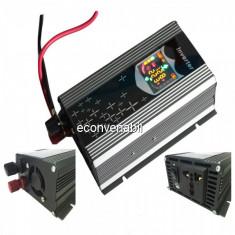 Invertor Auto 12V 1000W cu Display LCD, Iesire USB si Priza