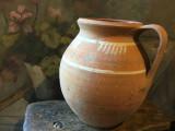 Arta si Traditie - Vas / Oala cu maner realizata manual din zona olteniei !