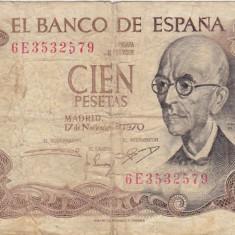 SPANIA 100 PESETAS 1970 UZATA