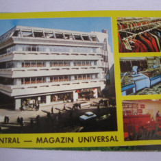 Carte postala - Cluj Napoca (Magazinul Central), Necirculata, Fotografie
