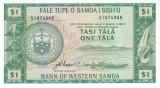 Bancnota Samoa de Vest 1 Tala ( 1967/ 2020 ) - P15e UNC  ( serie S )