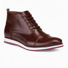 Pantofi inalti barbati - T326-maro-inchis