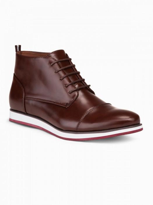 Pantofi inalti barbati T326 maro inchis