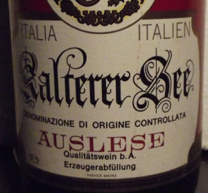 35 - VIN AUSLESE, DOC, VIN ITALY,  recoltare 1978 cl 70 gr 12