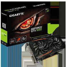 Placa video GIGABYTE NVIDIA GeForce GTX 1050 OC 2G, N1050OC-2GD, PCI-E 3.0 x 16, 2GB GDDR5, 128 bit, Boost: 1518 MHz/ Base: 1404 MHz in OC bulk