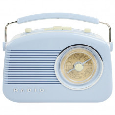 Radio AM/FM Konig, design retro, Albastru