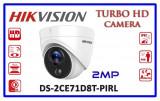 Cumpara ieftin Camera dome Turbo HD Hikvision DS-2CE71D8T-PIRL 2MP, 2.8mm, IR 20m, IP67, WDR 120dB, senzor PIR integrat