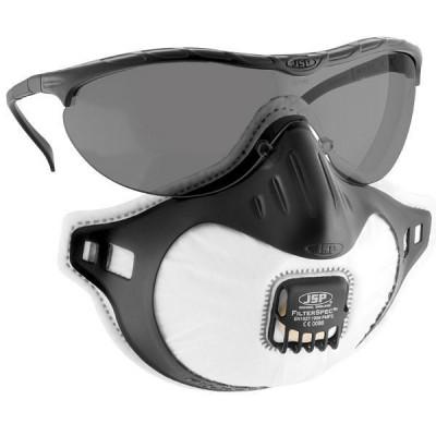 Set 3 masti ffp3 cu supapa JSP made in uk + o pereche ochelari foto