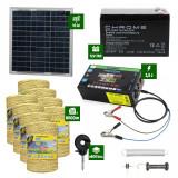 Pachet gard electric cu Panou solar 2,5J putere și 8000m Fir 160Kg